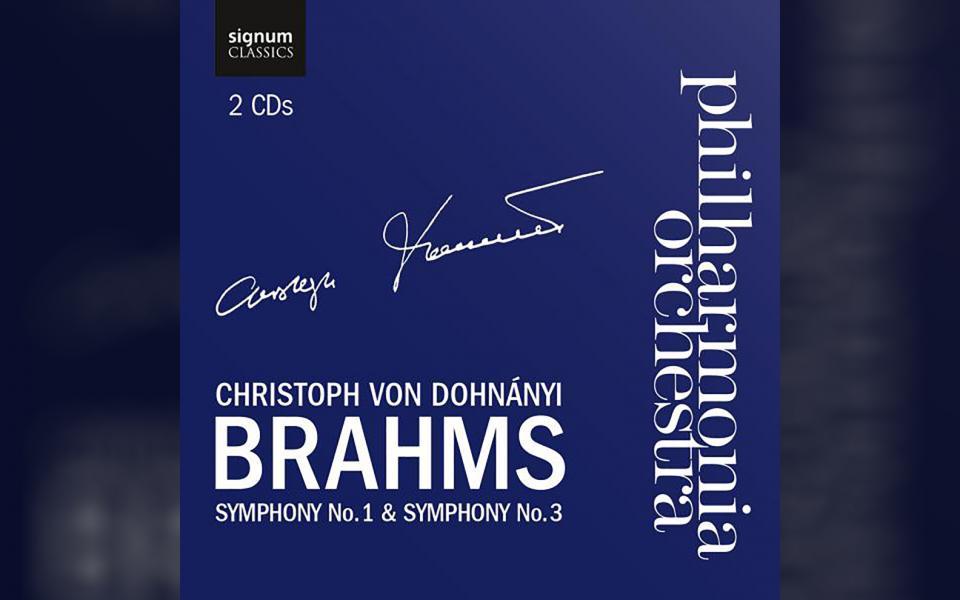Brahms Symony No 1 & 3 CD cover