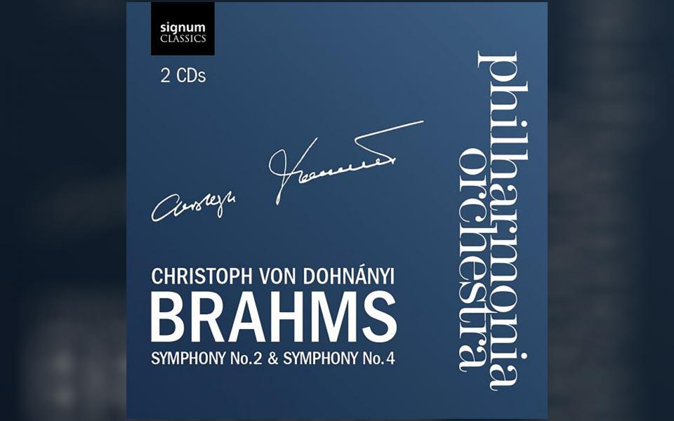 Brahms Symony No 2 & 4 CD cover