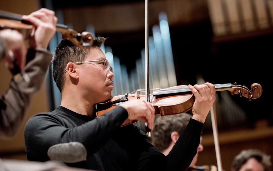 Soong Choo performing at the Royal Festival Hall
