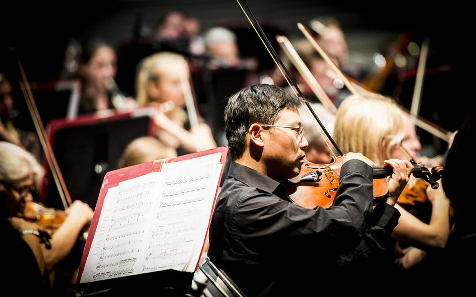 Photo of Philharmonia violinist Soong Choo
