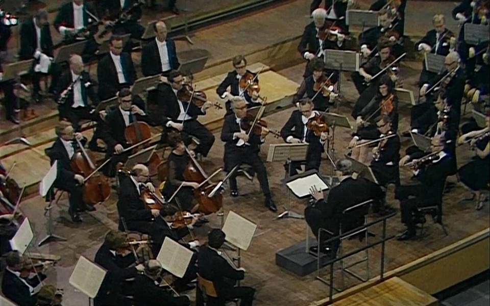 Otto Klemperer and the Philharmonia Orchestra on stage