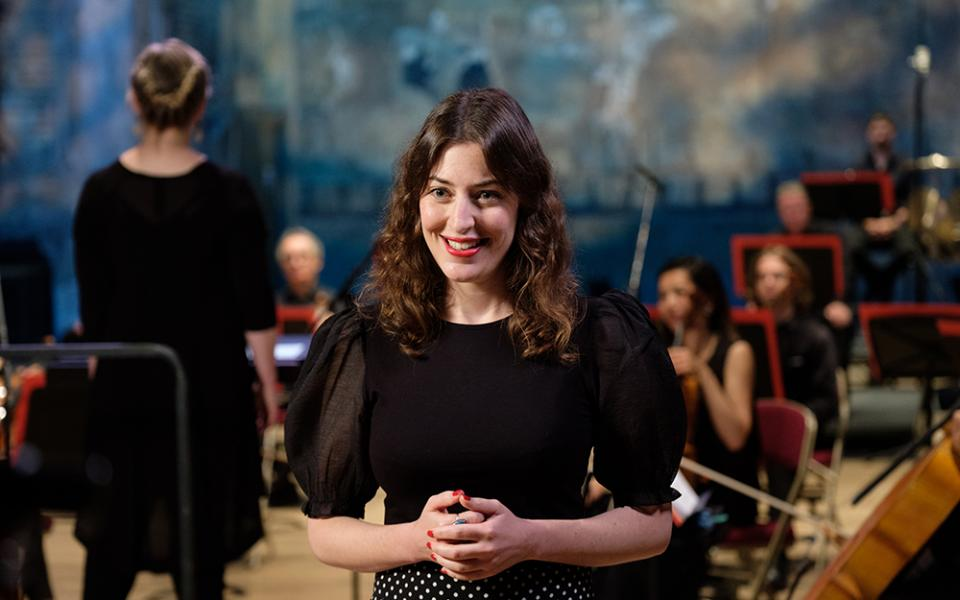 Photo of Lucy Drever at the Philharmonia Sessions