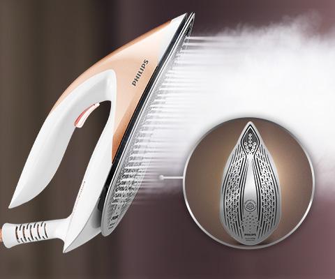 Philips Doskonały poślizg i wysoka trwałość. Stopa SteamGlide Advanced
