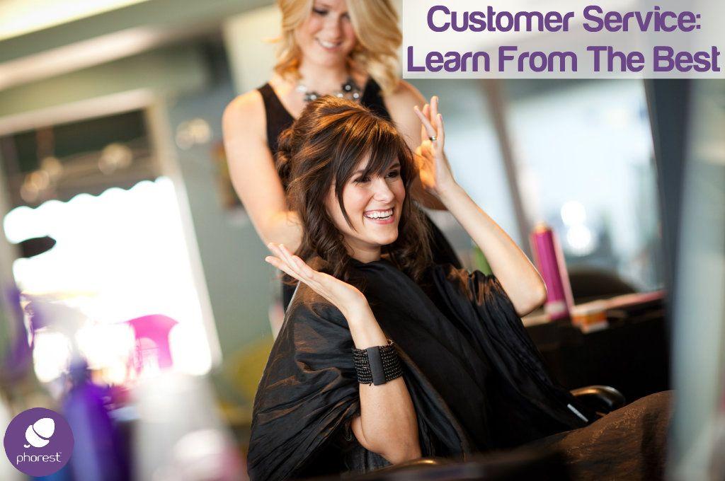Happy salon customer