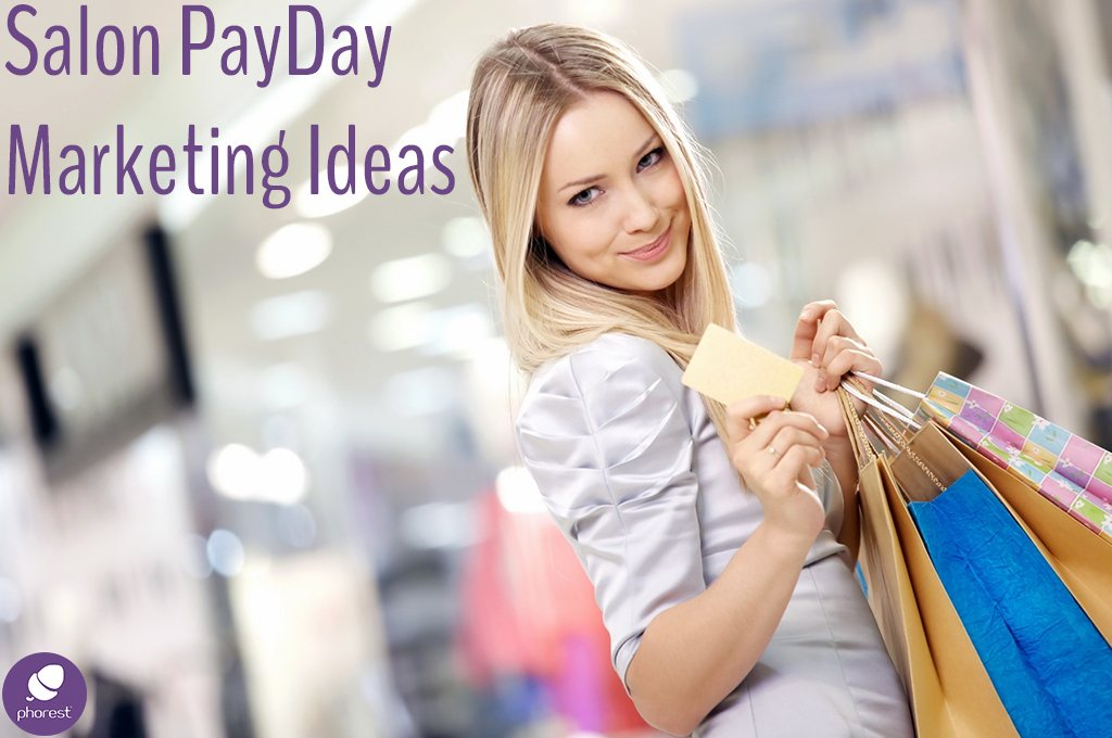 Happy blonde with shopping bags - Salon marketing ideas