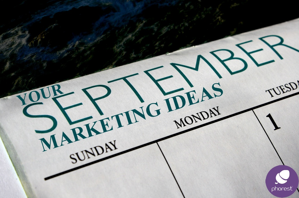 Marketing ideas calendar for September