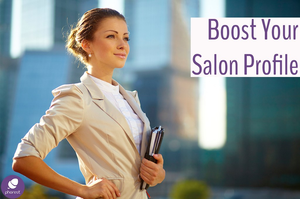 Proud business woman. Boost your salon profile