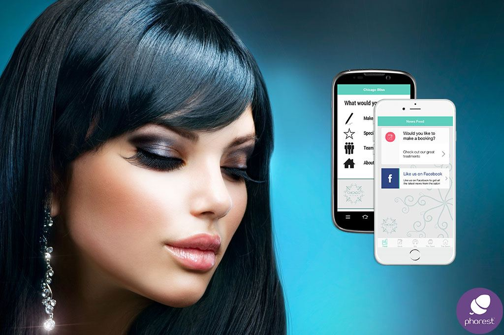 salon booking app - woman with beautiful hair