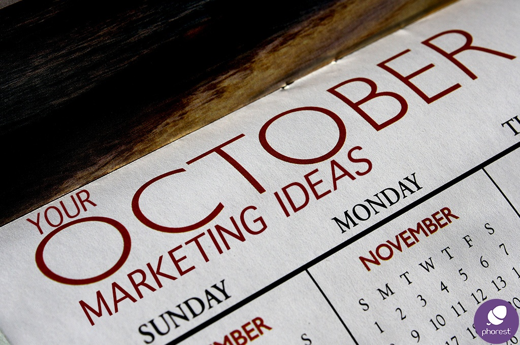 Calendar for October marketing ideas