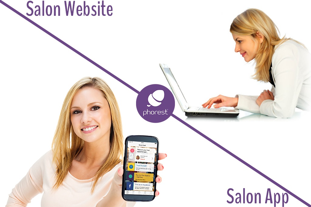 Phorest - salon website, salon app, PC smartphone.