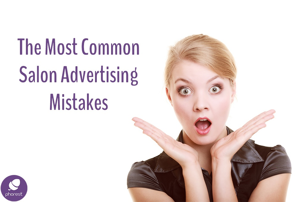 Salon advertising mistakes, surprised or shocked woman