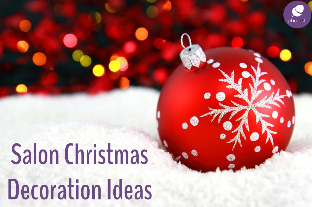 Salon decoration ideas for christmas phorest blog for Salon xmas decorations