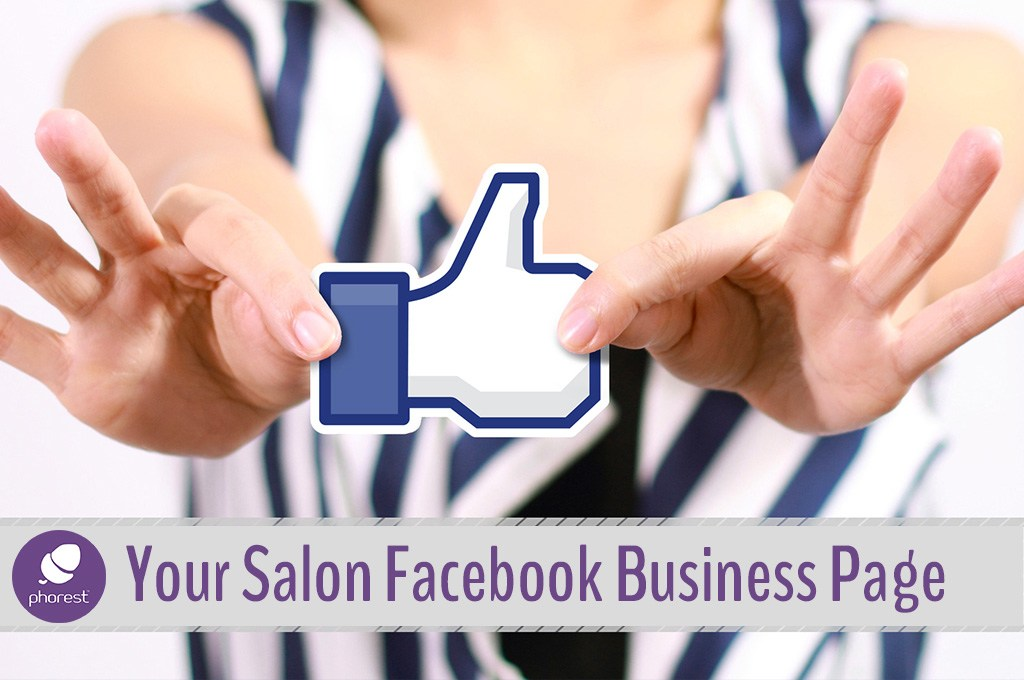 Setting up a salon-facebook-page - woman showing a facebook thumbs up