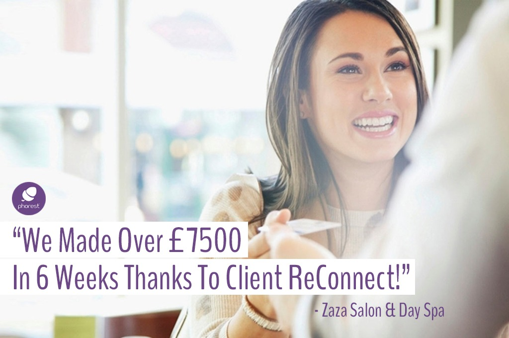 salon software feature client reconnect testimonial