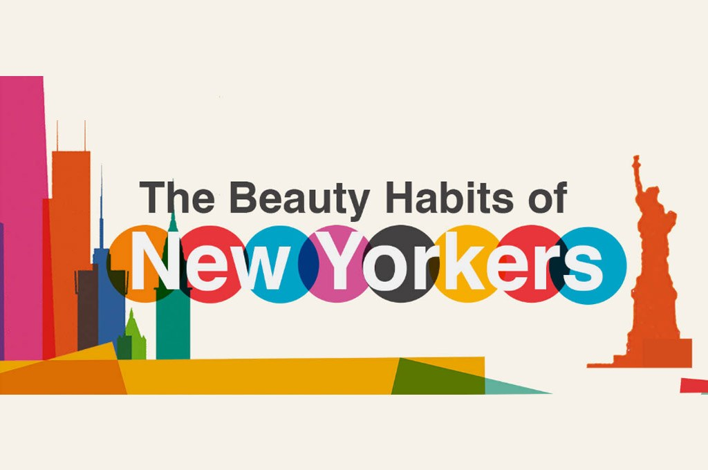 The Beauty Habits of New Yorkers with New York Skyline Graphics