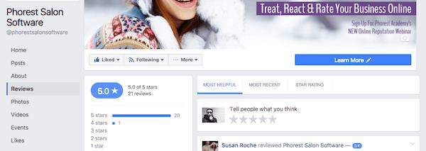 facebook arvioita