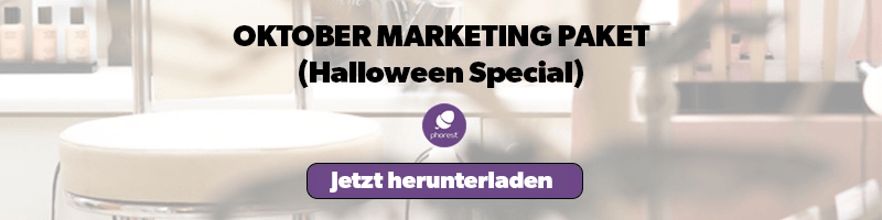 Halloween Salon-Marketing Ideen