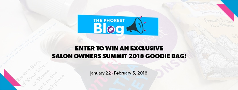 salon owners summit 2018 goodie bag