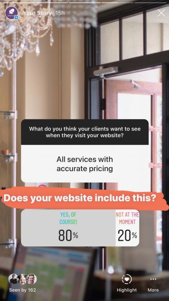 salon website, pricing