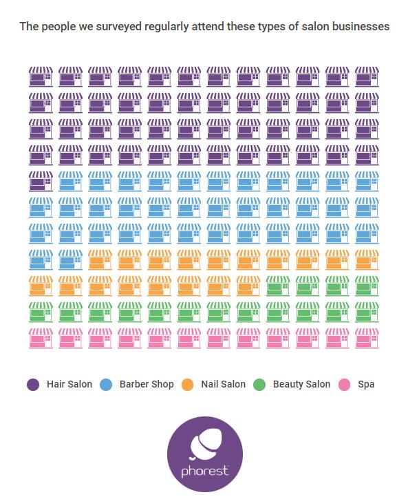 salon websites, breakdown of respondents