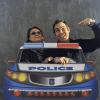 coche de policía para photocall