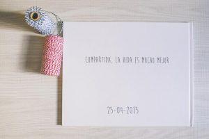 libro de firmas boda blanco