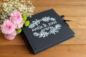 libro de firmas boda negro