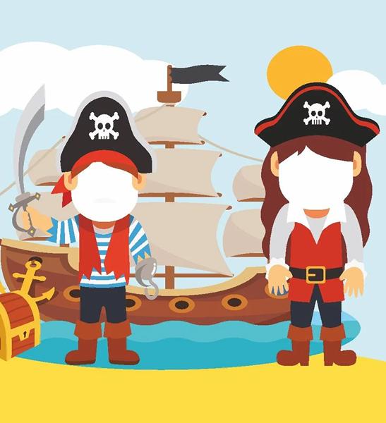 Photocall fiesta infantil pirata