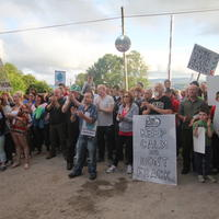 61-21-07-2014  ; Fracking protest in Belcoo Co Fermanagh 090
