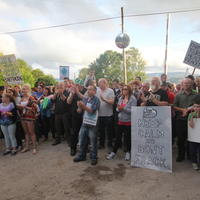 62-21-07-2014  ; Fracking protest in Belcoo Co Fermanagh 091