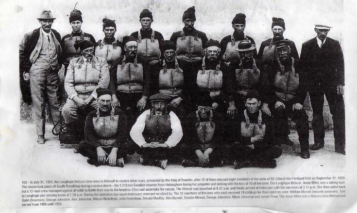 Longhope lifeboat crew