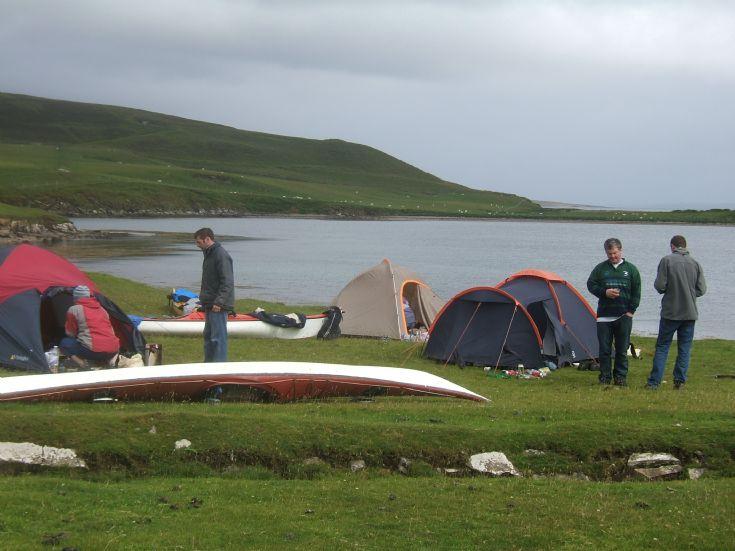 camping on gairsay