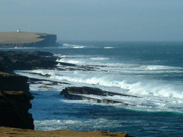 Looking west, past the Brough of Birsay