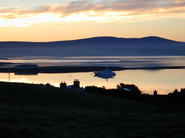 Stromness harbour sunrise