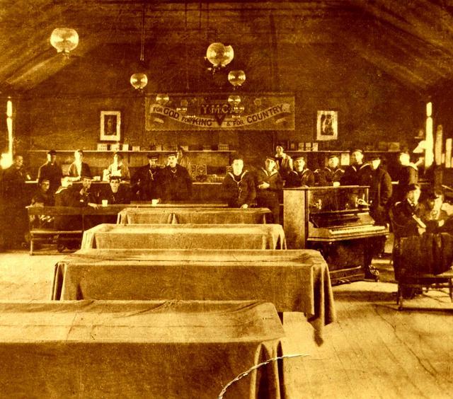YWCA in church hall, Long Hope