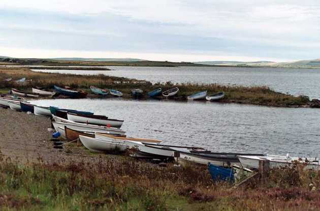 Boats at Brodgar
