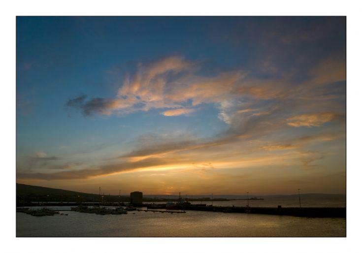 Sunset Over Kirkwall Marina