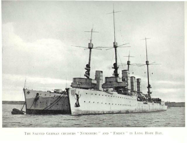 Salved German Cruisers in Lon Hope Bay
