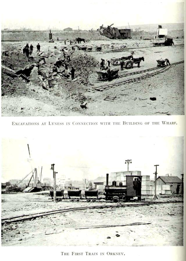 First train in Orkney