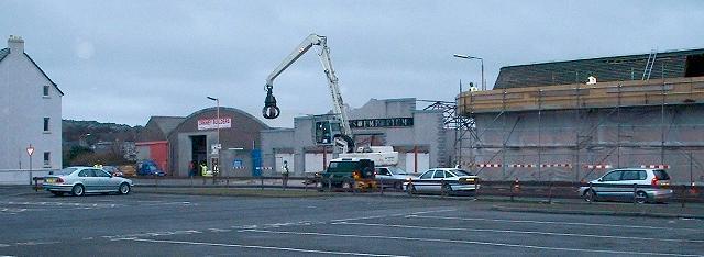 Demolition of St Clair's Emporium