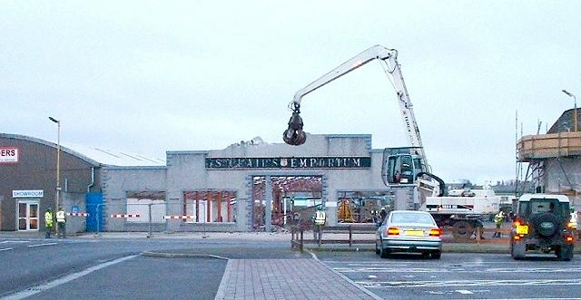Demolition of St Clair's Emporium