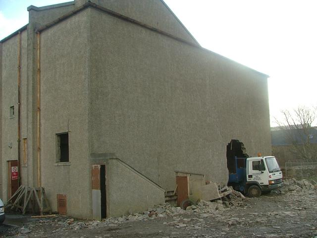 Rear of the old Phoenix during demolition