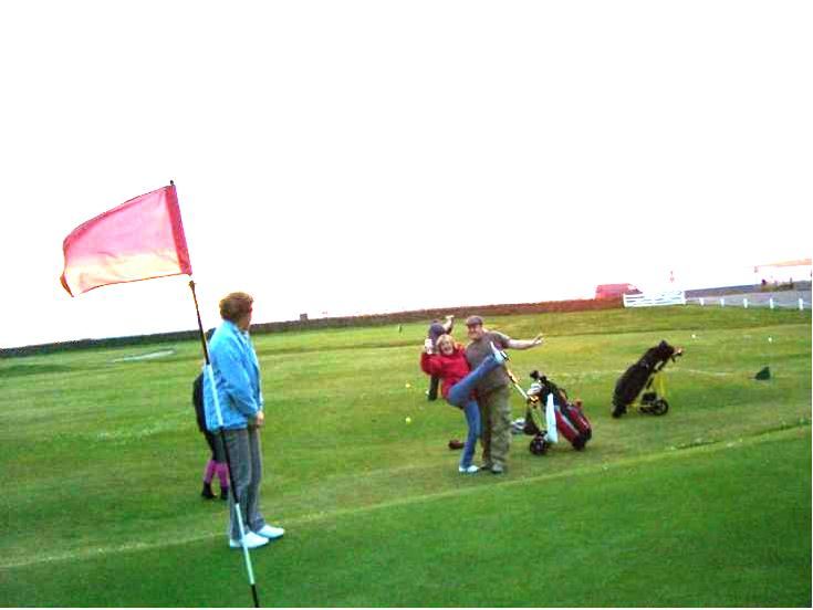Golfers in the sma' hours