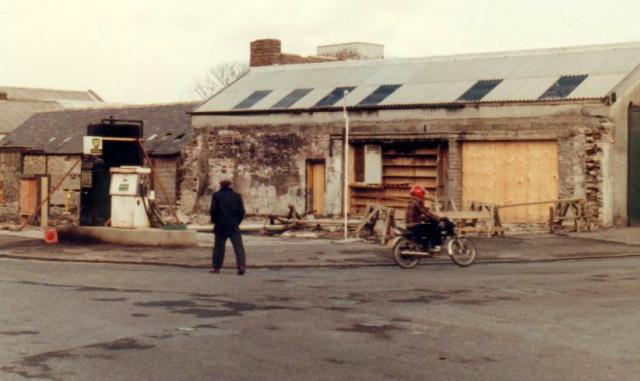 Tullock's after the fire, 1981.