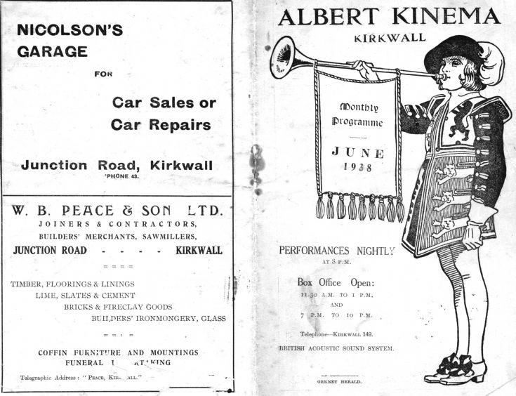 Albert Kinema Programme 1