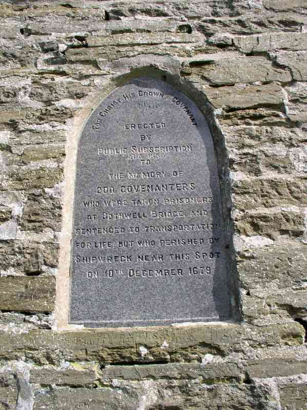 Covenanters' Memorial plaque