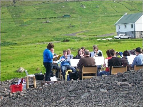 Kirkwall Town Band in Faroes