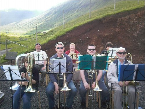 Kirkwall Town Band in Faroes