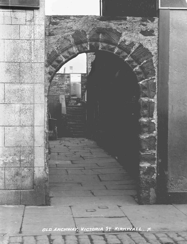 Old archway, Victoria Street, Kirkwall