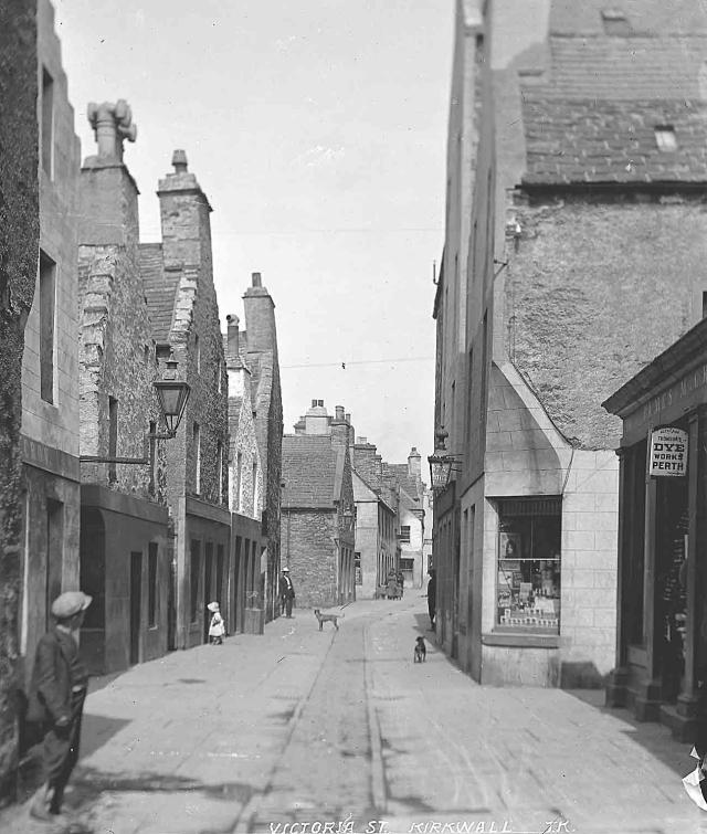 Looking back up Victoria Street, Kirkwall